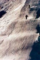 Ski-Abfahrer am Jenner, Berchtesgaden, 2001