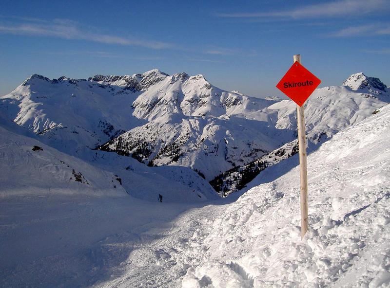 Skiroute in Lech am Arlberg