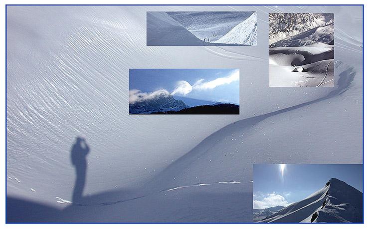 Skiurlaub-Impressionen.