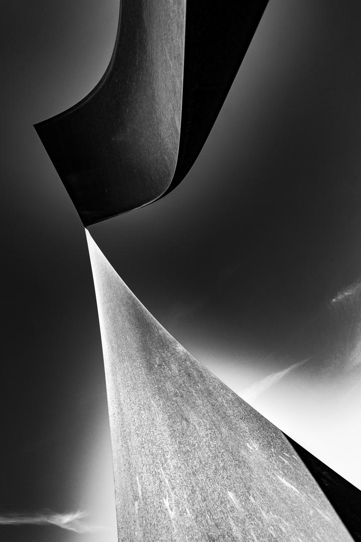 Skulptur aus Stahl
