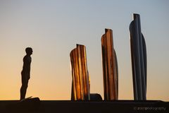 Skulptur im Abendlicht