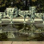 Skulptur im Kieler Schlosshof