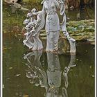 Skulptur mit Spiegelung
