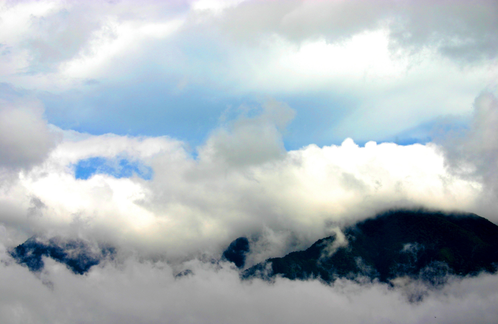 sky, forests and clouds
