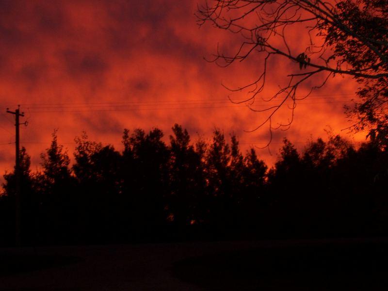 sky is on fire (II)