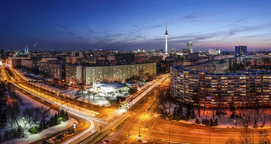 Skyline Berlin Platz der Vereinten Nationen