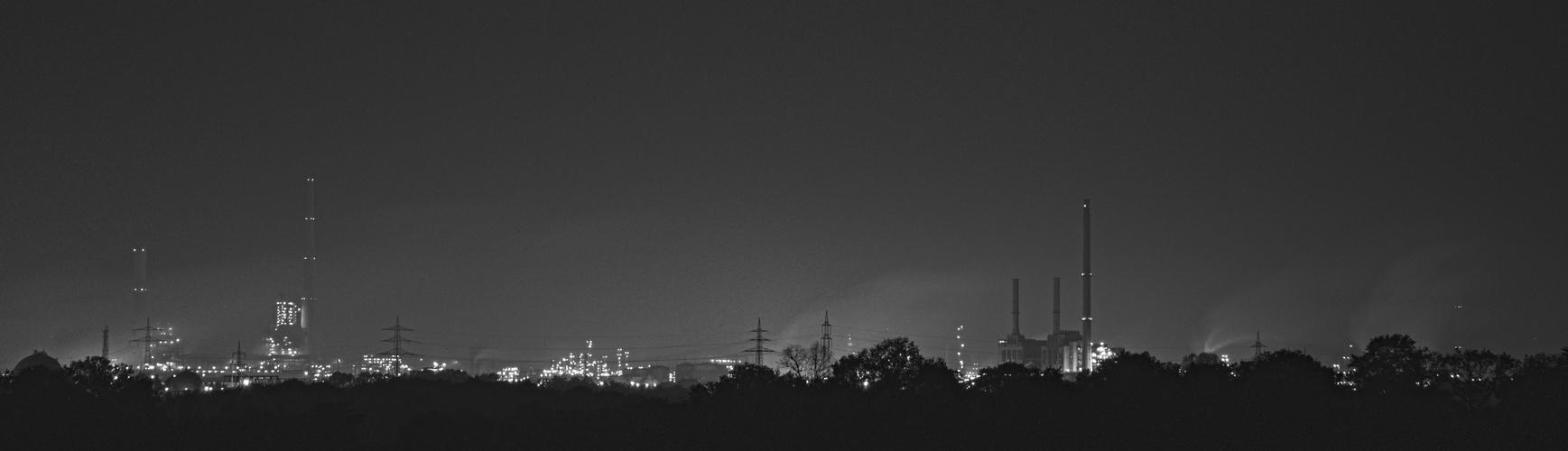 Skyline des Chemiepark Marl