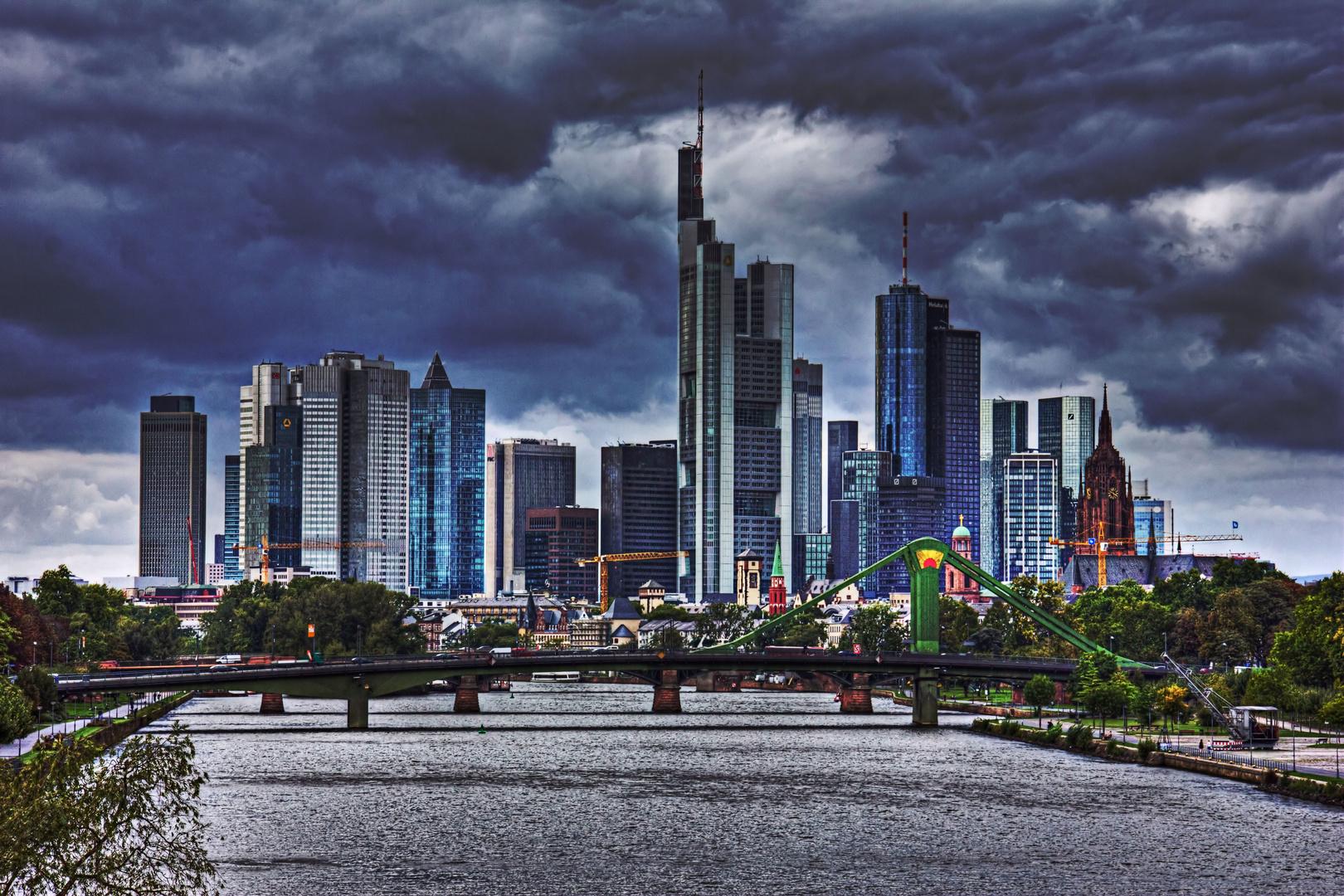 skyline frankfurt hdr foto bild deutschland europe hessen bilder auf fotocommunity. Black Bedroom Furniture Sets. Home Design Ideas