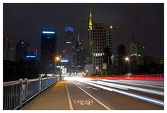 Skyline Frankfurt/M mit Langzeitbelichtung