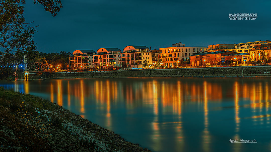 SKyline Magdeburg - Blue Hour -