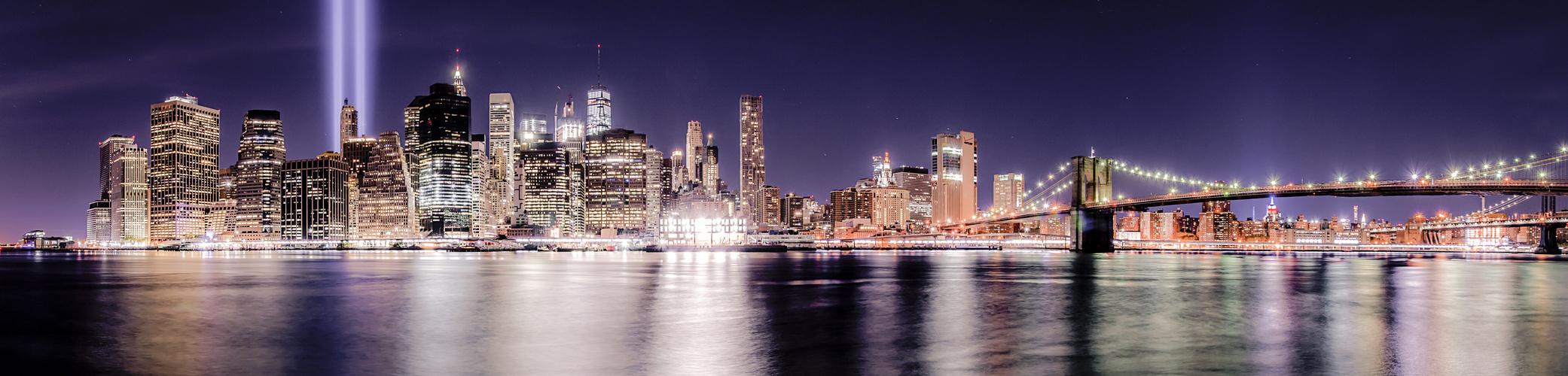 Skyline New York 11S Tribute in Light