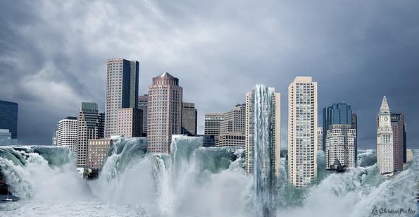 Skyline überflutet