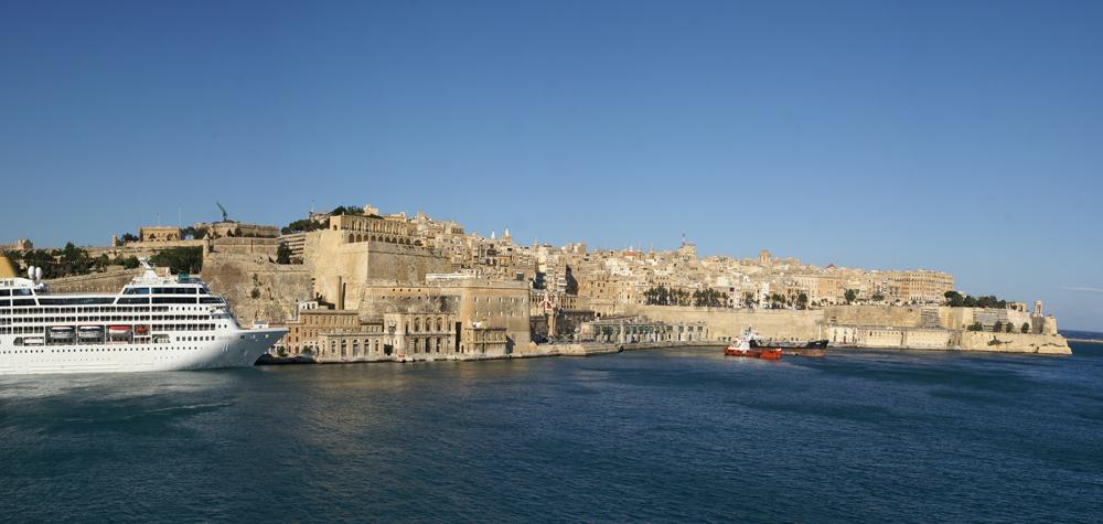Skyline von Valletta, Maltas Hauptstadt