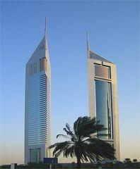 Skyscraper of Dubai - Morgendämmerung