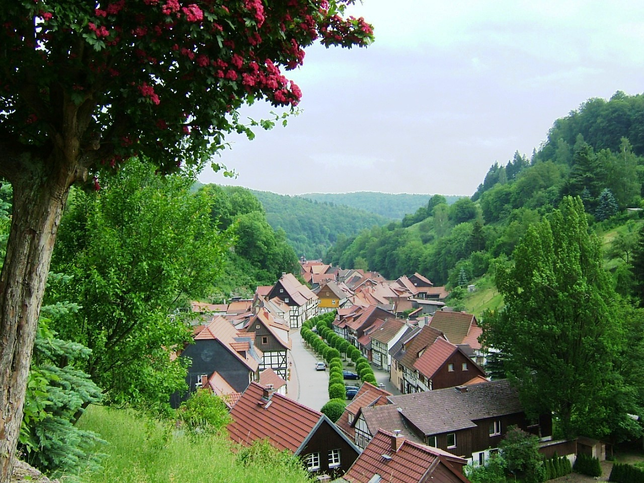 Sleepy town in the Harz Mountains