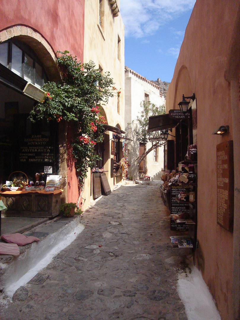 slip road in Monemvasia