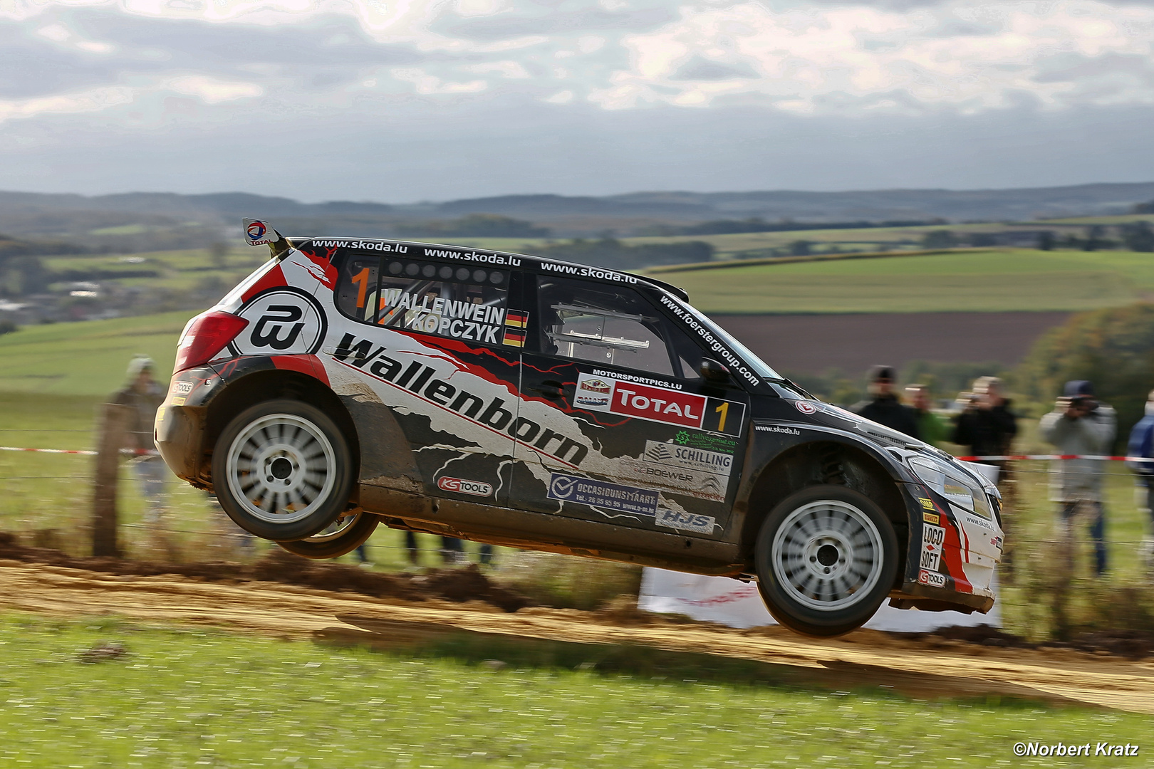 Small jump at he Rallye Luxembourg 2012
