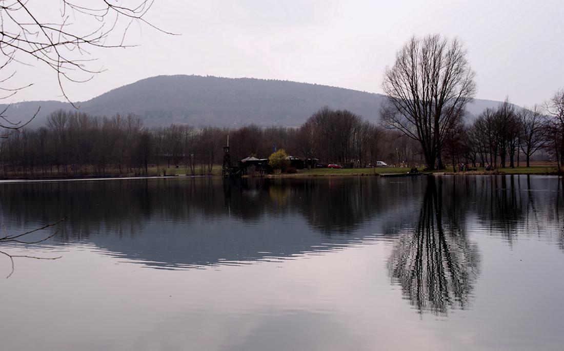 small swimming lake