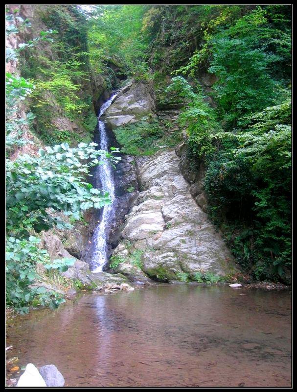 small waterfall..