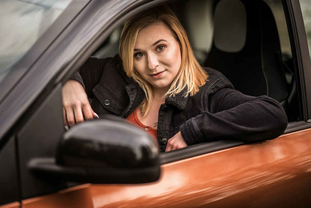 Smartfahrerin