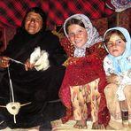 Smiling Ashayeri Grandmother and grand children