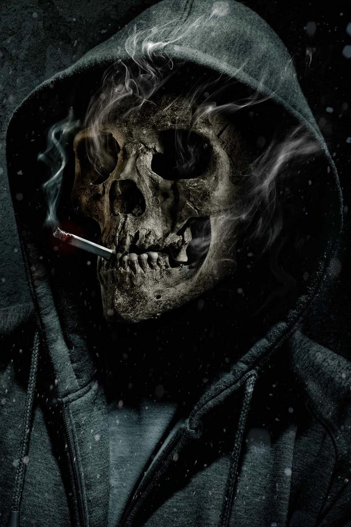 Smoking Kills Foto Bild Fotomontage Surreal Totenkopf Bilder
