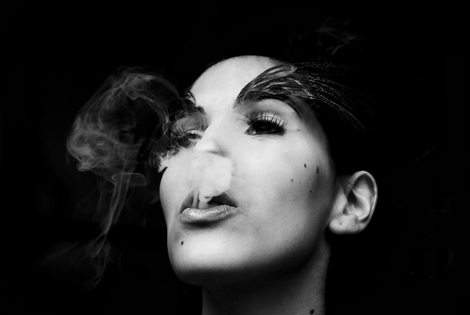 Smoking Lady.