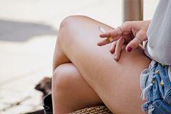 Smoking legs