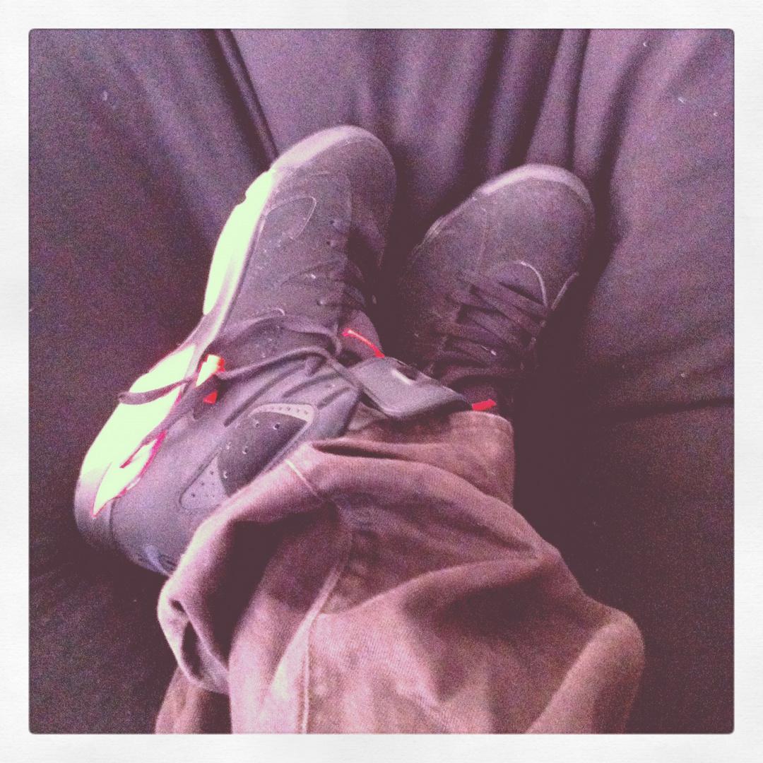 ~ SneakerLove - Nike Air Jordan 6 black/red ~