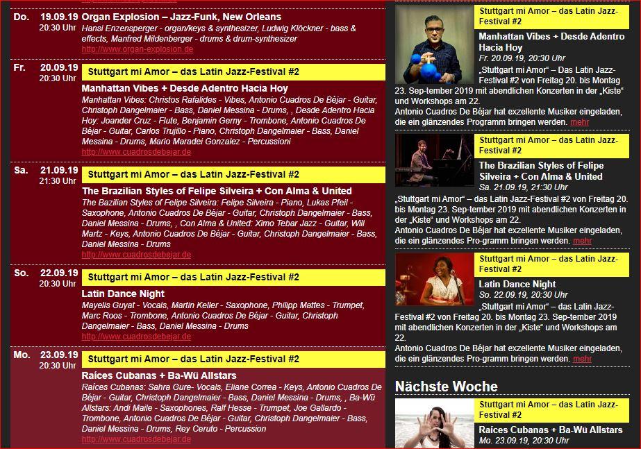 snip 4mal_Konzerte Latinjazzfestival