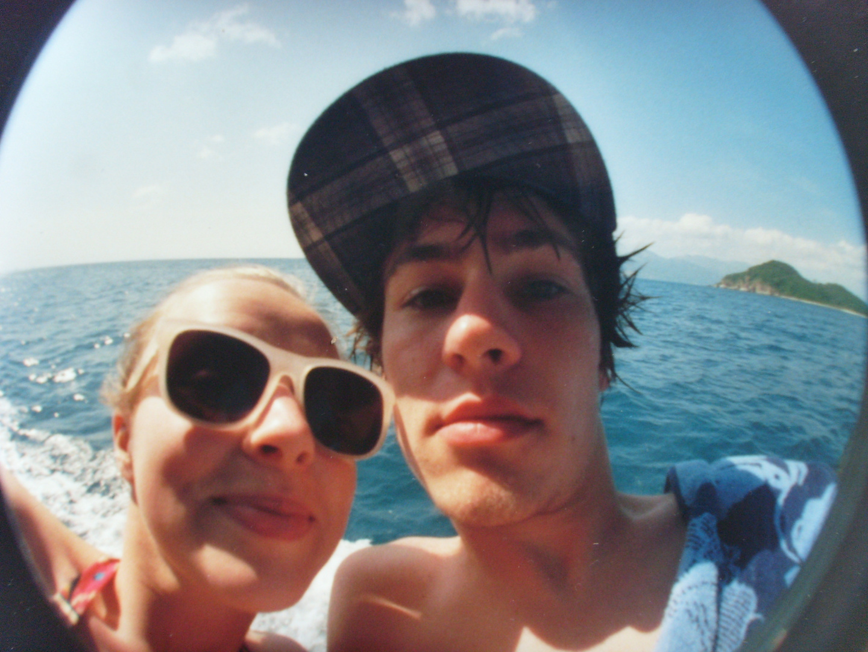 snorkeling (Lomo Fisheye)