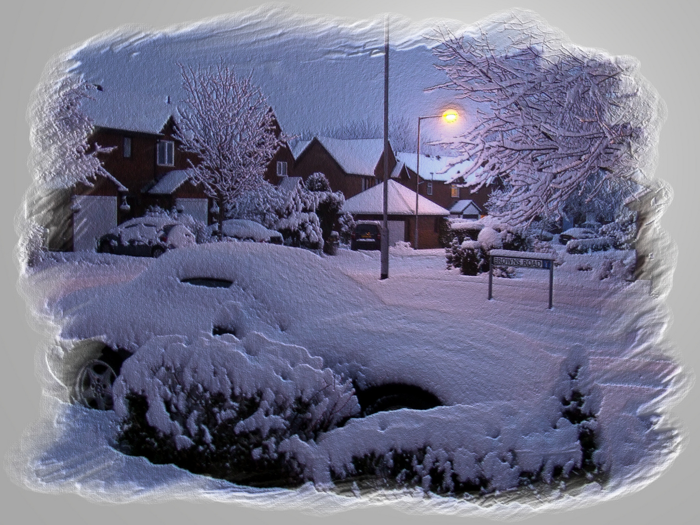 Snow coverded drive