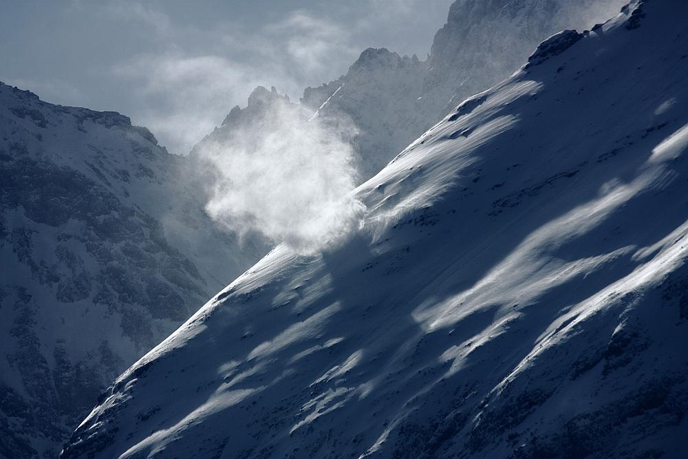 Snow Devils  oder Windhose   - am Igelskopf - bei Ehrwald