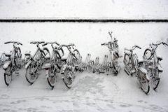 Snow flies...stops...