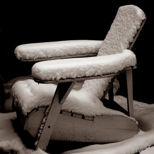 Snow on bearchair