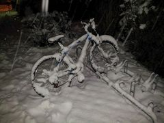 Snowbike - vom Winter überrascht