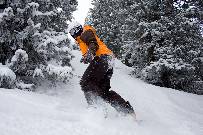 Snowboarden im Kleinwalsertal