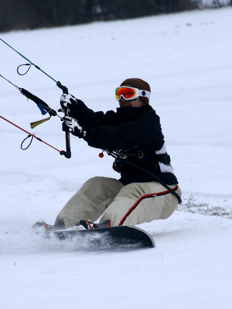 Snowkiting...
