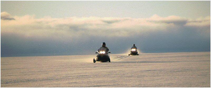 Snowscooter auf dem Vatnajökull