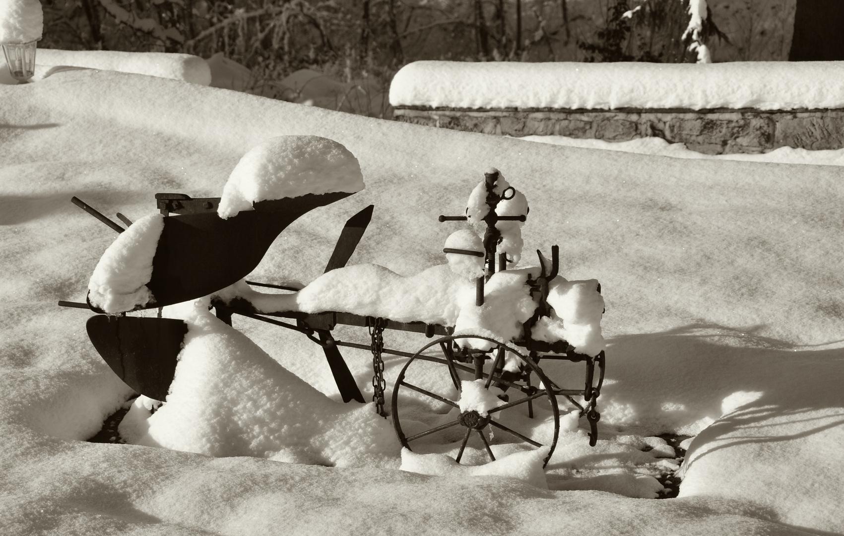 Snowy plough