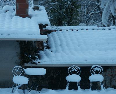 snowy provence