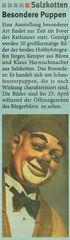 """- So berichtet die """"Neue Regtionale"""" am 7.4.2019 über die Ausstellung """"Gesichter hinter Glas"""" -"""