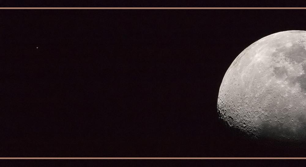 ... so fern und doch so nah ... (Mars und Mond auf einem Bild)
