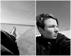 So groß und einfach die Welt am Strand, nur Wind und Wolken, nur Meer und Sand.