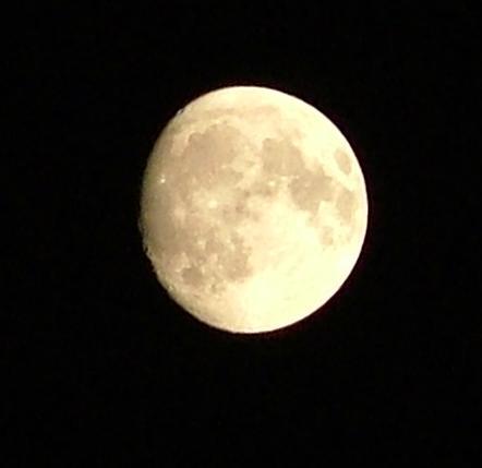 So habe ich den Mond noch nie gesehen