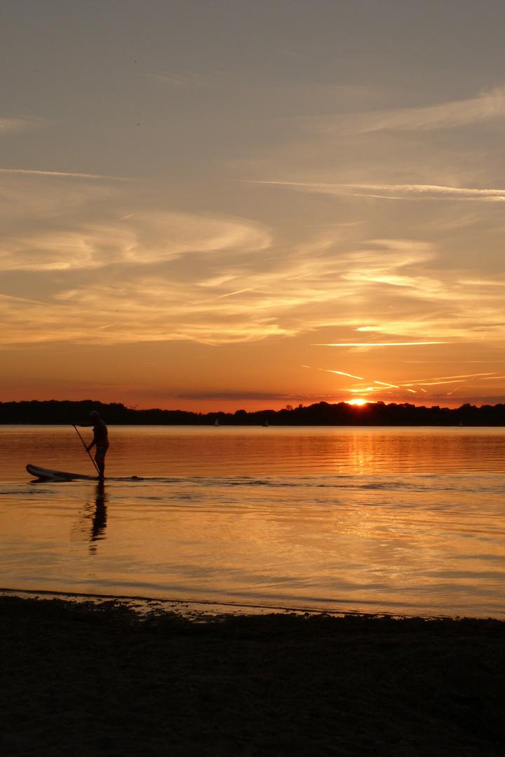 so sollte ein Arbeitstag ausklingen...,Leipzig,Cospudener See