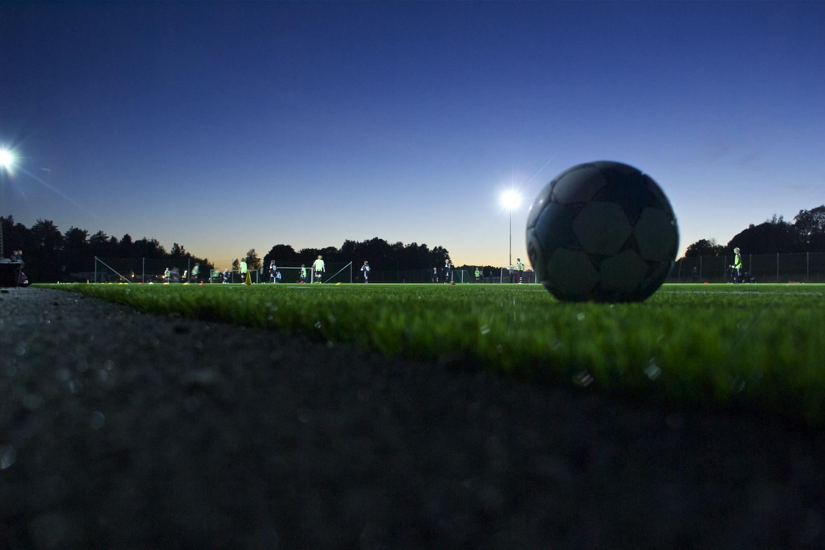 soccer by night