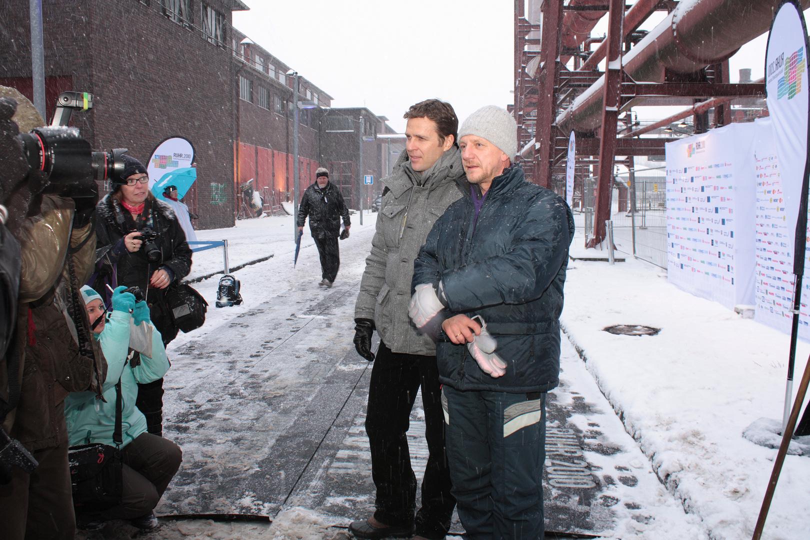 Sönke Wortmann & Oliver Bierhoff - Eröffnungsfeier RUHR.2010 #3 Foto ...