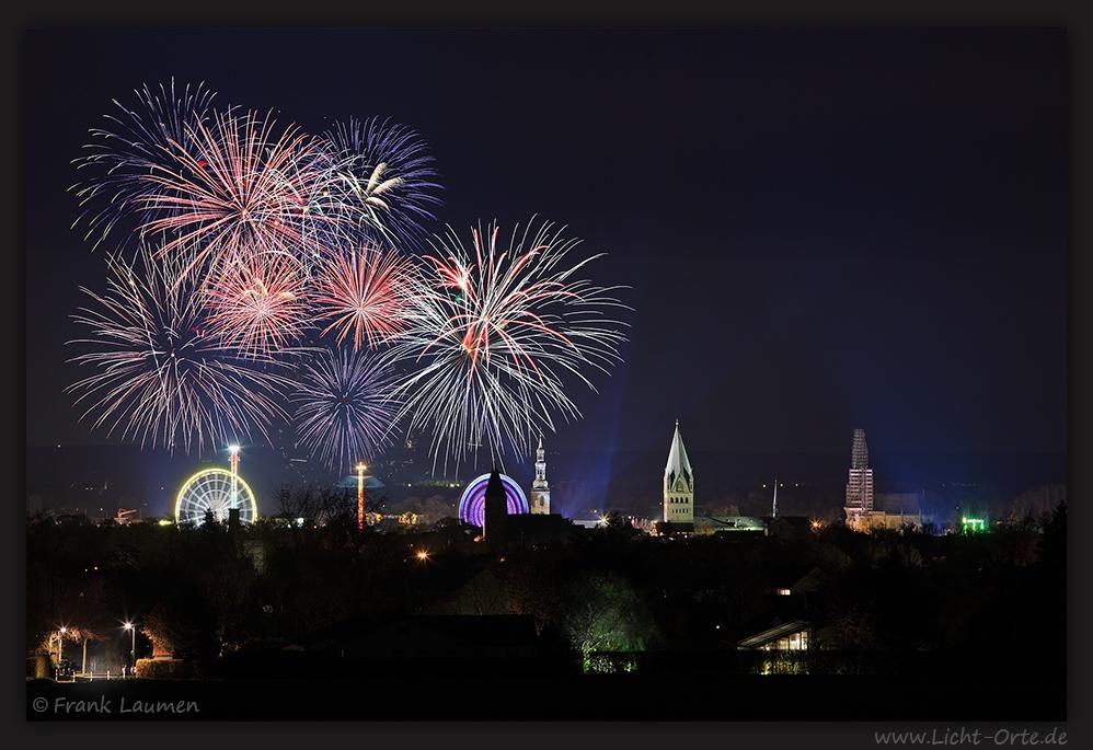 Soest - Feuerwerk zur Allerheilgenkirmes 2011