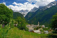 Soglio und seine Berge